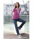Ladies Elastic Polo Short-Sleeved